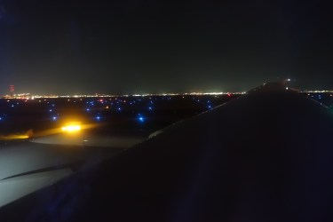 Night view of the taxiway