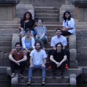 Team at ruins