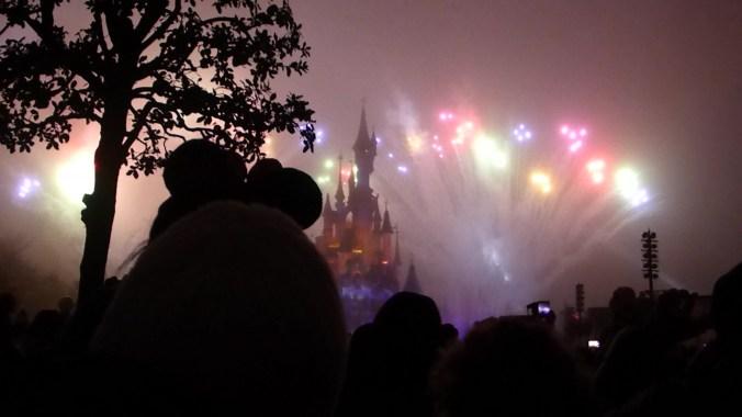 Vuurwerk kasteel Disneyland Parijs