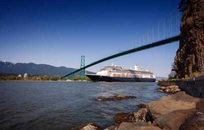 Holland America Line's Volendam sailing out of Vancouver