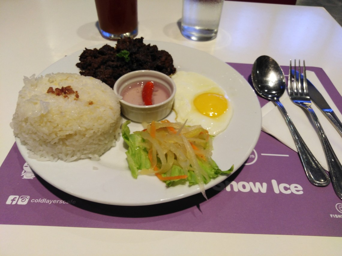 BEEF TAPA RICE MEAL by Cold Layers Cafe