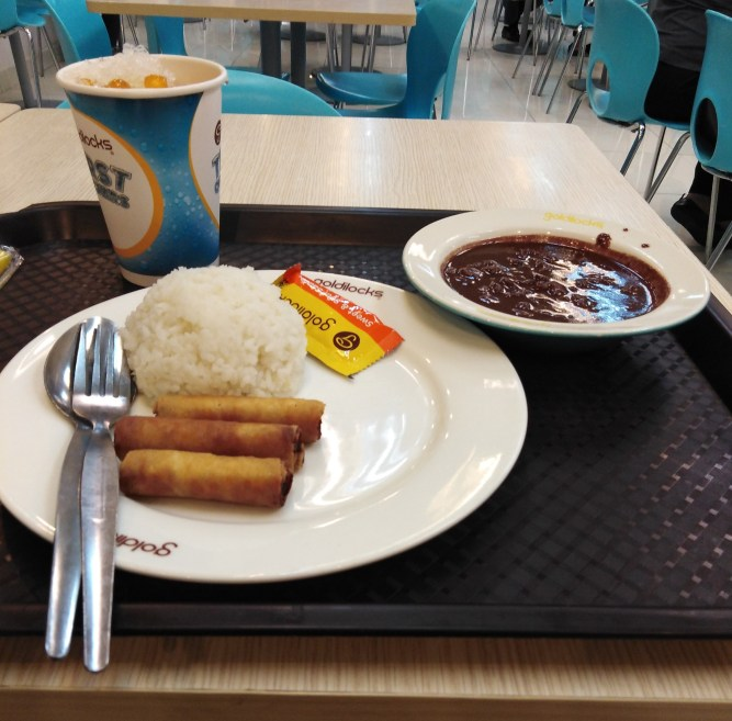 Shanghai and Dinuguan Meal by Goldilocks