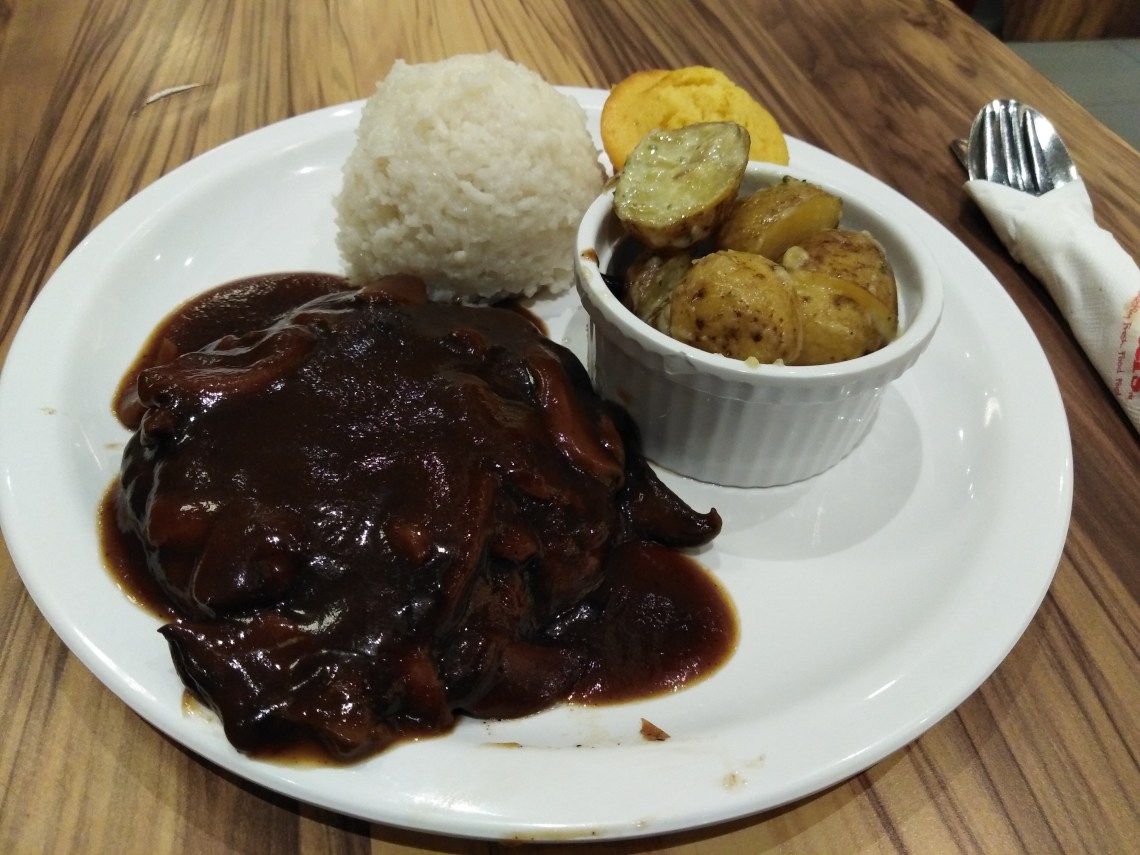 Burger Steak Rice by Kenny Rogers