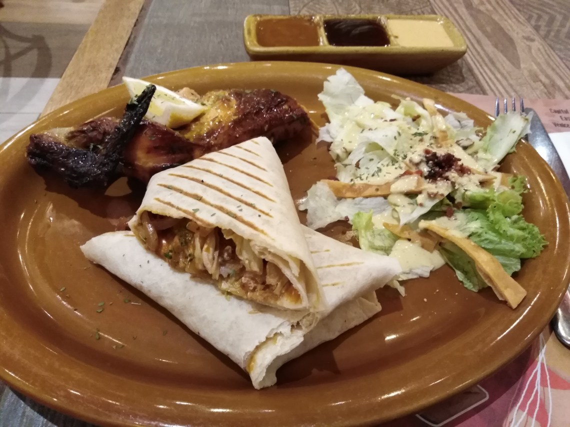 Healthy Plate with Fish Rappa by Peri-Peri Charcoal Chicken and Sauce Bar