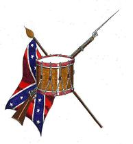 Drum rebel flag