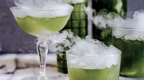 Smoky Halloween Cocktail