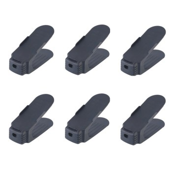 (Sale has ended) Shoe Rack Black Set of 6