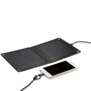 Foldable Solar Panel with Dual Head Charging Cable