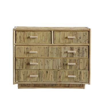 Cabinet with 5 Drawers | Rattan