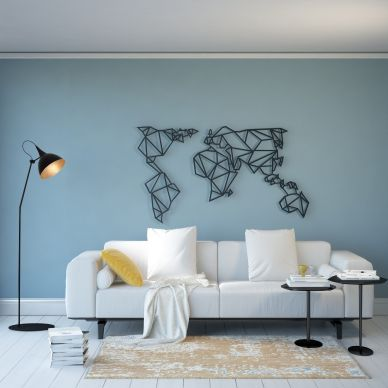 Wall Decoration World Map | Black