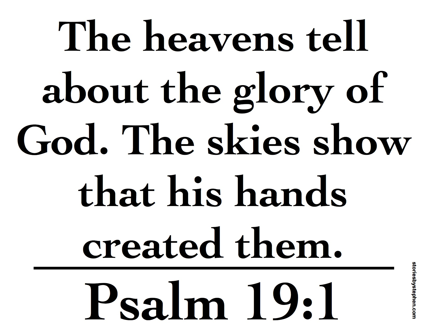 Psalm 19 1 Memory Verse Printables