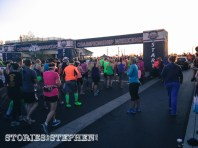 4,000 total people from 38 states and 6 countries ran the different races. It was pretty crowded at the start.