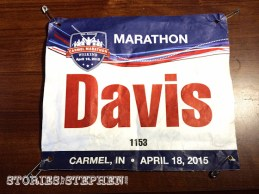 Nice race bibs with last names on them!