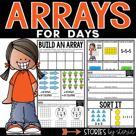 Are you working on arrays? This resource includes hands-on activities, games, and worksheets to help students work with arrays, repeated addition, and equal groups.