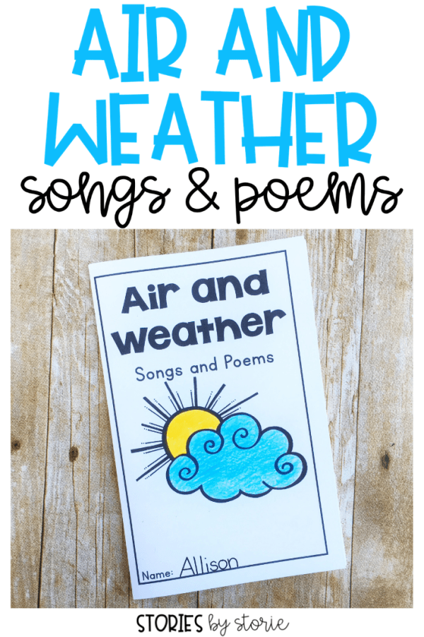 Songs and poems are a great way to add excitement to your Air & Weather unit. These free songs and poems can be used with your whole class, in small groups, or to help students build fluency. They can be easily placed into a booklet, too.