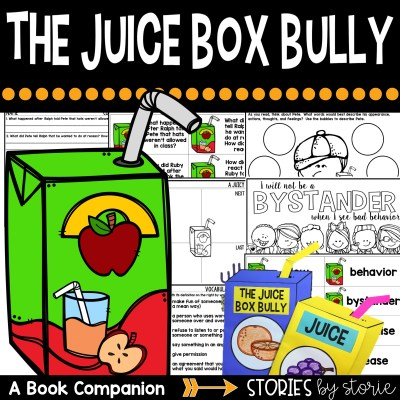 This book companion for The Juice Box Bully contains a juice box writing craft, as well as comprehension and vocabulary activities.
