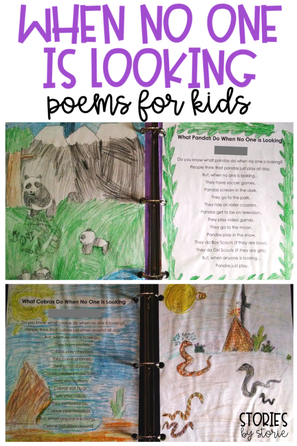 I don't know about you, but sometimes I just need to take a break from expository, narrative, and opinion writing and introduce poetry to my students to capitalize on their creativity.  While poetry is a great way for students to express that creativity, sometimes students need a gentle nudge to get started.  That's why I love using different poetry forms with my students.  Today I'm here to share with you a very entertaining poem template that my students love: When No One is Looking.