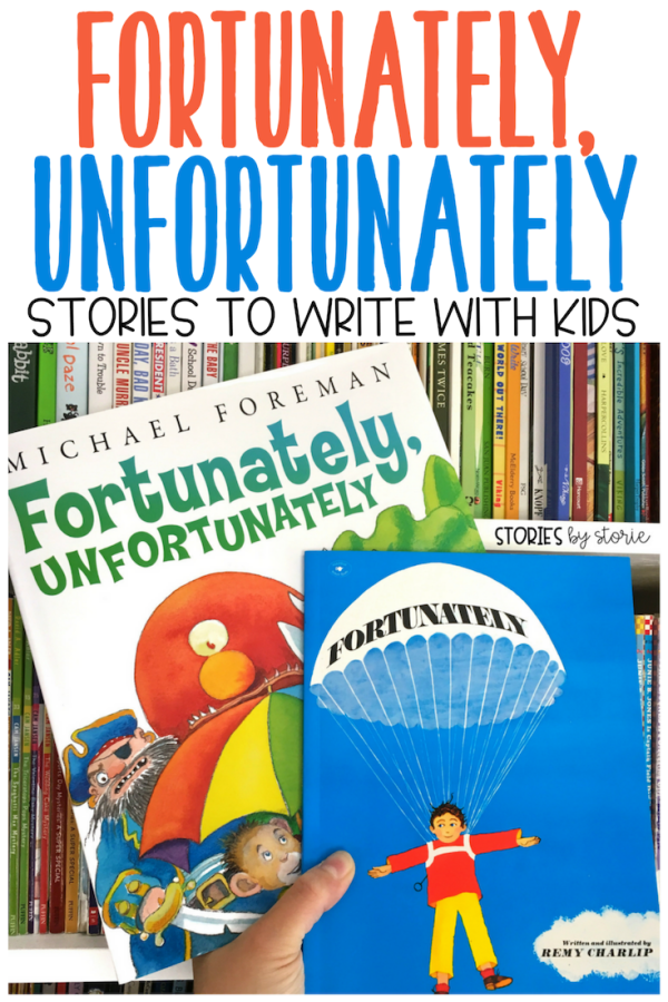 Looking for a way to add more excitement to your writing block? Introduce Fortunately, Unfortunately stories to your children. These stories are inspired by the authors of two children's books and students really enjoy writing in this style.