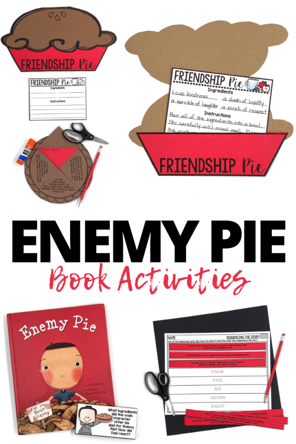 Enemy Pie by Derek Munson is one of my favorite read alouds to start the school year! Not only does this book provide teachable moments about friendship, but students relate to it and love the surprise ending. Here are some of my favorite activities and resources to pair with this book.