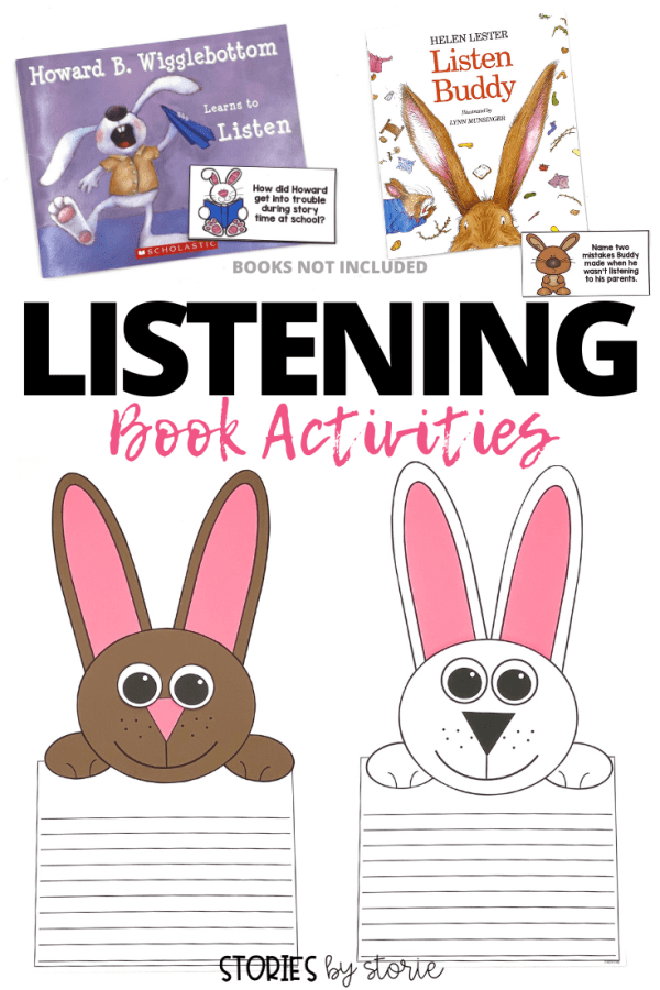 The beginning of the year is a time best spent on teaching expectations and procedures to set the tone for the rest of the year. One of the expectations we work on is listening skills. Two books that I use to help are Listen Buddy by Helen Lester and Howard B. Wigglebottom Learns to Listen by Howard Binkow. Here are some activities you can pair with these two stories.