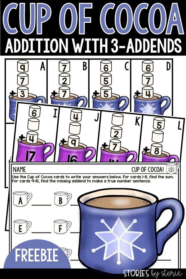 Are you working on addition with 3-addends? Not only do I have a freebie to share with you, but I have several ways you can offer more support for your struggling students.