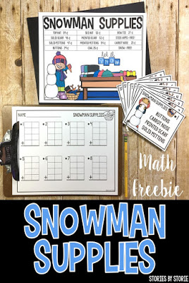 Snowman Supplies (a Free Math Station)
