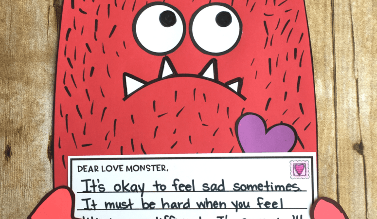Love Monster Craft & Writing Freebies