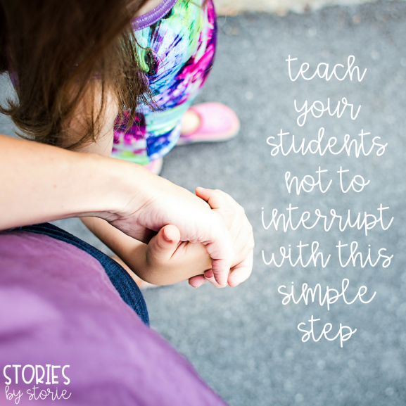 Use this one simple step to keep your students from interrupting your conversations.