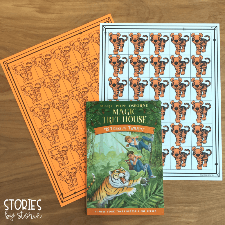 These Magic Tree House Passport Stamps can be printed in color or in black and white. You can print one full page of stamps to go with each of the original 28 books in the Magic Tree House series.