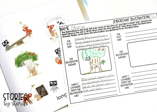Unplugged by Steve Antony is a simple story with a great message. The illustrations tell even MORE details about the story. Students can choose an illustration and write about the information they gathered from the illustration.