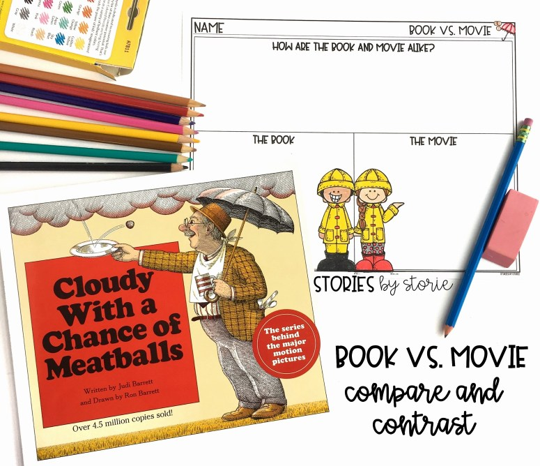 After reading Cloudy with a Chance of Meatballs and watching the movie, students can compare and contrast the two using this FREE graphic organizer.