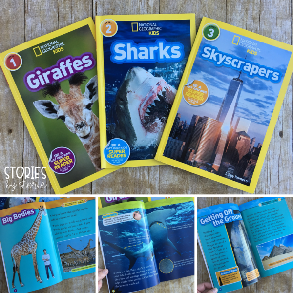 National Geographic Kids is a great nonfiction book series for kids. These leveled books are filled with interesting facts and colorful photographs.