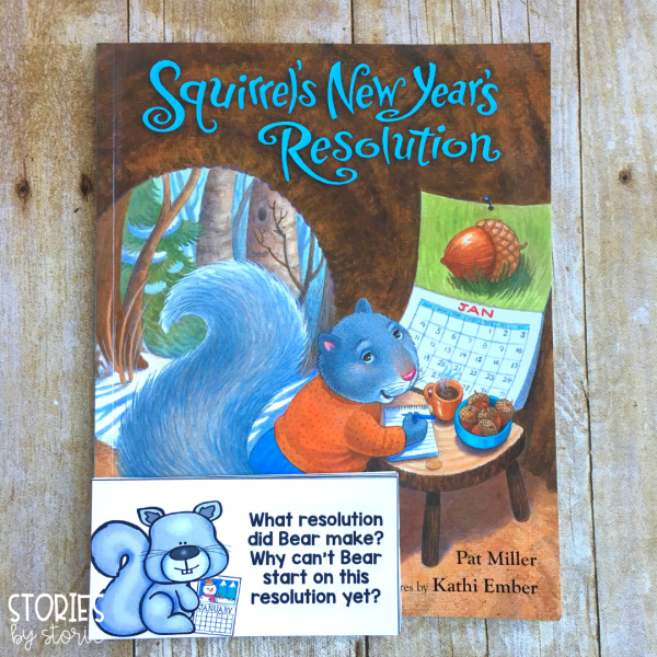 These comprehension questions can be used while reading Squirrel's New Year's Resolution. Students can either respond to the questions verbally or in writing.