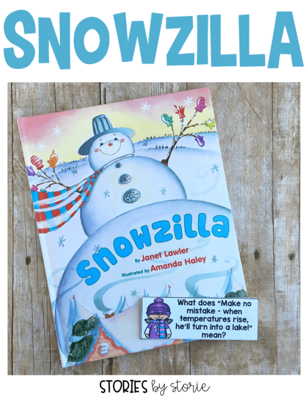 January is my favorite month to read books about snowmen, and Snowzilla by Janet Lawler is one of my favorites! Here are some activities you can pair with the story along with a winter kid craft that your students will enjoy!