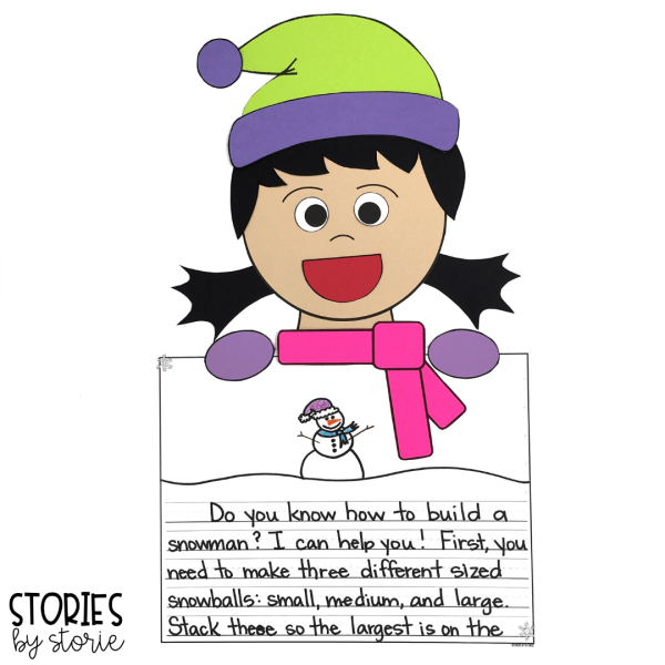 After reading Snowzilla, students can create their own winter kid with these craft templates. These can stand alone, or be paired with a piece of writing. This pack includes four writing prompts, but students can choose their own.