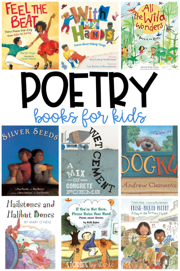April is National Poetry Month, a time when we celebrate poets and their craft. Poetry is playful and introduces language to children in a unique way. Poems can provide a window into another world where we can understand the lives, perspectives, and experiences of different people and places. The best place I have found poems to share with kids is through books. Not all poetry books are created equal, so here are some of my favorite poetry books for kids.