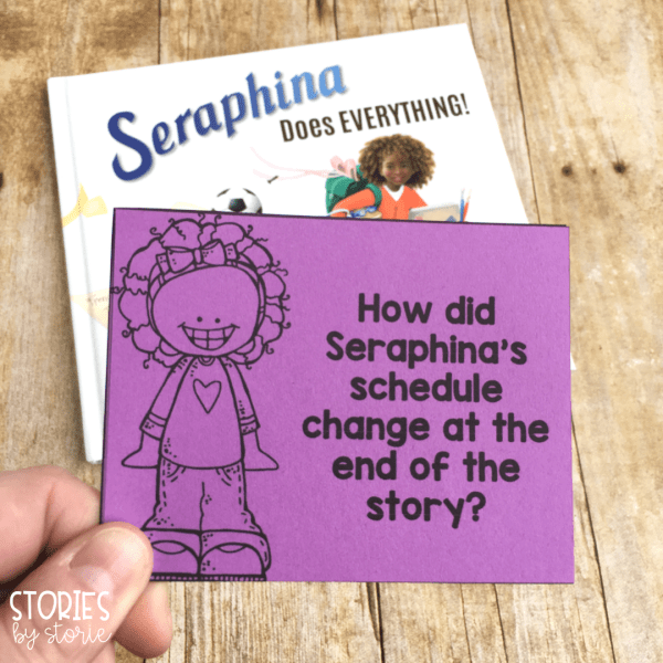 To help guide your students through Seraphina Does Everything, I have written six discussion questions. Students can answer verbally, or you can have them respond in writing in a journal.