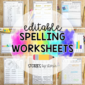 Students need time to practice their spelling words. By having a large number of activities to offer, you can avoid falling into the spelling rut! These low-prep editable spelling worksheets help students practice their words in a fun and engaging way. Whether you are using a list of spelling words, vocabulary words, or sight words, all you need to do is type your list of words one time and all of the worksheets will be created at once. Some answer keys will also be generated to help save you time! You can use these spelling worksheets for centers, morning work, with small groups, or even as homework practice.
