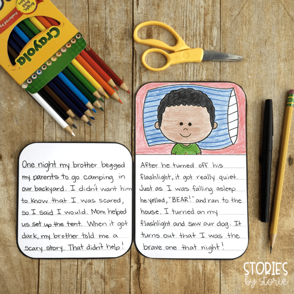 This camping craft pairs well with your favorite camping books for kids. Students can write a poem, a story, a packing list, and more!