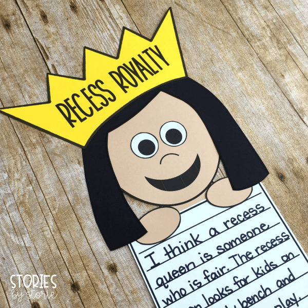After reading The Recess Queen, students can share something about their own playground experiences with this recess royalty craft.