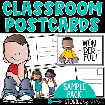 Looking for a way to spice up your writing center? Try classroom postcards! Kids love sending and receiving mail. This sample pack includes two pages of editable classroom postcards.