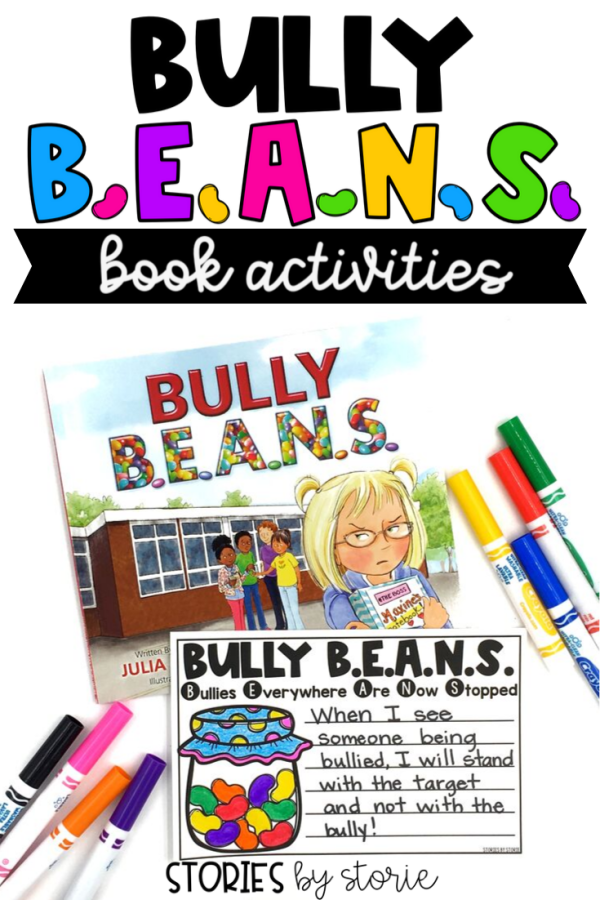 Bullying is happening in schools more often than we'd like to admit. Bully B.E.A.N.S. by Julia Cook helps children identify bullying and offers strategies for those who are targets and bystanders. Here are a few activities you can pair with this story.