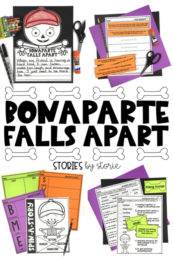 Bonaparte Falls Apart is a story about friendship, humorous mishaps, and creative problem solving. It's sure to be a bone-a-fide hit for Halloween! Here are some activities you can pair with this spooktacular story.