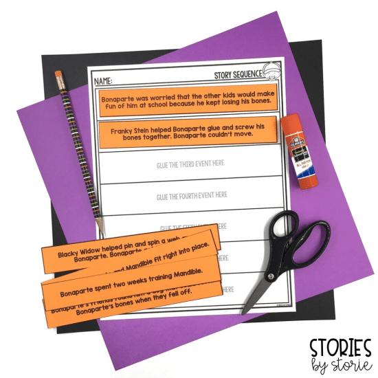 After reading Bonaparte Falls Apart, students can put the story back together with these sequence of events cards. This is a great way to help get students ready to retell and summarize the story.
