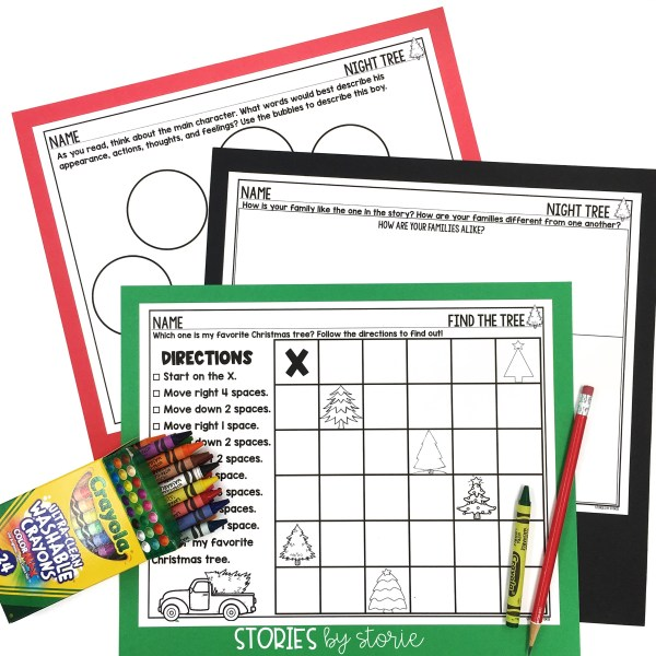 These activities can be paired with Night Tree. There is a tree-themed following directions activity and two character graphic organizers.