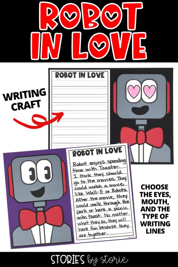 Robot in Love by T.L. McBeth is a sweet story with a surprising ending for anyone who doesn't pick up on the clues in the illustrations. While this story can be read any time of year, I think it would be a great book to share near Valentine's Day. I want to share a few activities you can pair with Robot in Love.
