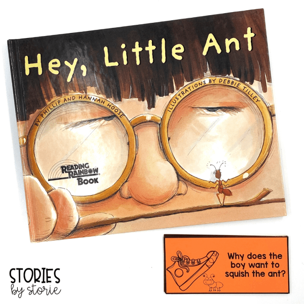 These 12 comprehension questions will help guide your discussion as you read Hey, Little Ant. Students can also respond to these questions in writing.
