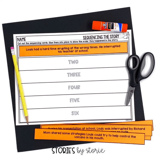 After reading My Mouth is a Volcano, students can put the story back together with this sequencing activity.