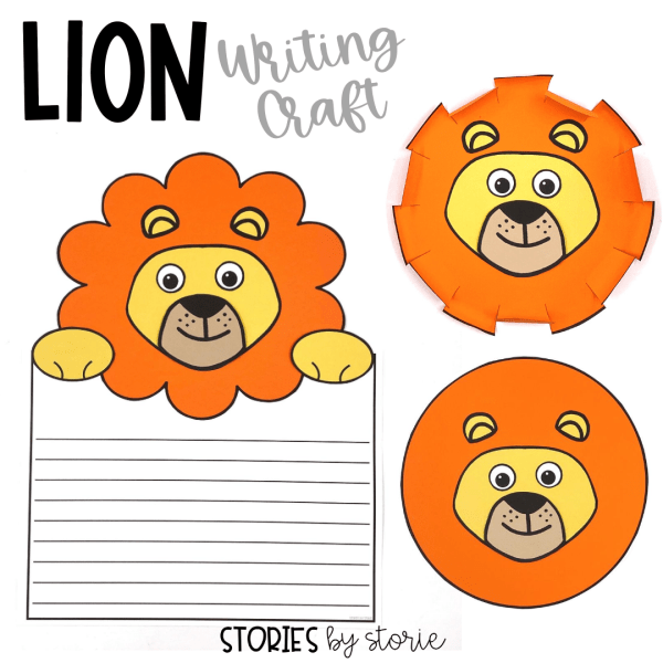 After reading Library Lion, students can create a lion writing craft. There are three different options for the lion's mane. I have included several writing prompts, but students can always choose their own way to respond to the text.