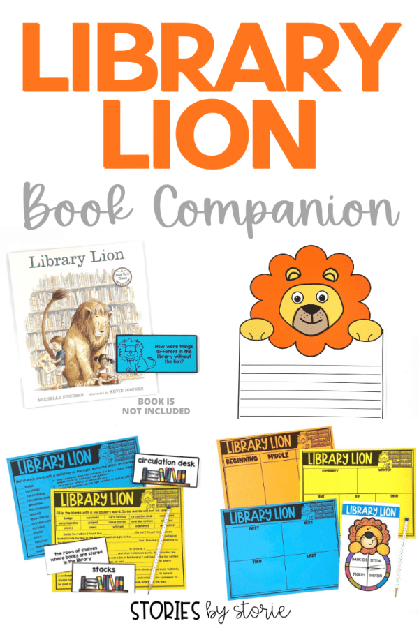 Library Lion is a great book to share at the beginning of the year. Not only will this book help start a conversation about library rules and caring for books, but kids will absolutely love and root for this friendly lion! Here are some printable and digital Library Lion activities you can use in the classroom or at home.